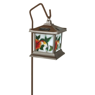 Solar Hummingbird Lantern Light