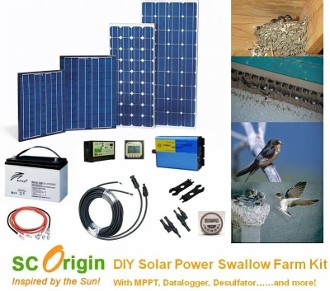 Do it Yourself Solar Power Swiftlet Swallow Farm Kit
