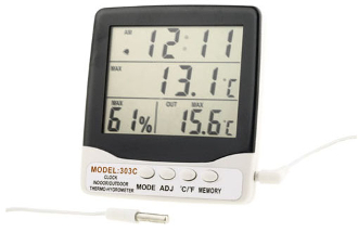 Digital Thermometer with Hygrometer