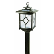 Solar Stainless Steel Lantern Pagoda Light - Set of 2 Path Lights