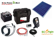 50W Solar Power Do it Yourself Lighting Kit