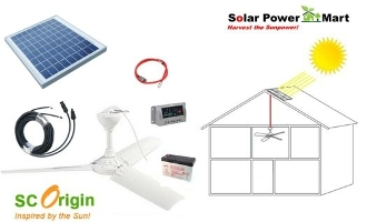 10w solar power ceiling fan do it yourself kit aloadofball Image collections