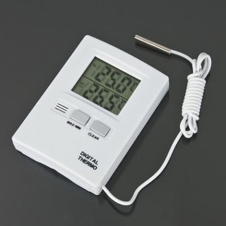 Digital Thermometer With LCD Display