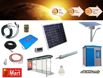 50W Solar Power DIY Lighting Kit With Lithium Battery