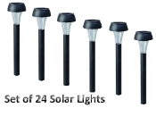 Solar Mini Black Path Light