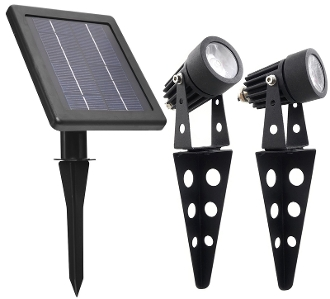 Mini 50X Twin Solar Spotlight Set