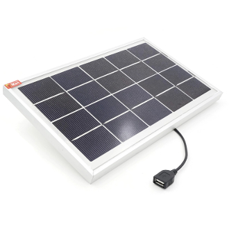 USB Solar Panel 6W With Aluminum Frame