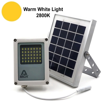 Mini Alpha 180X Solar Flood Light Warm White Light